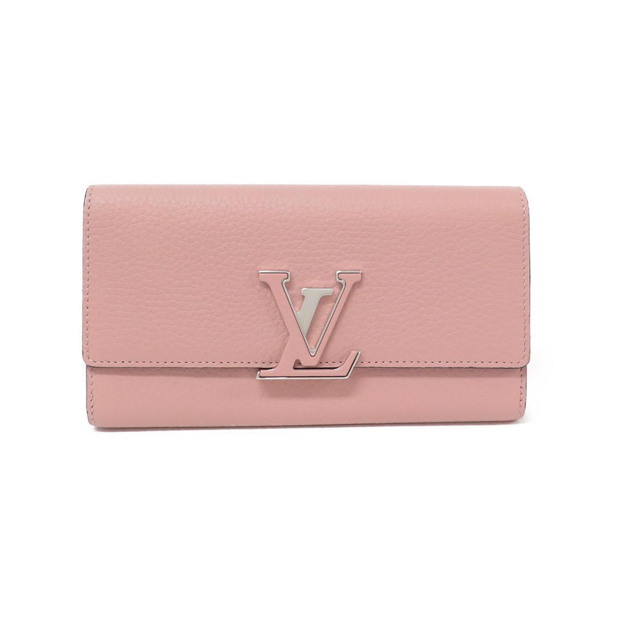 ピンクのルイヴィトンの長財布