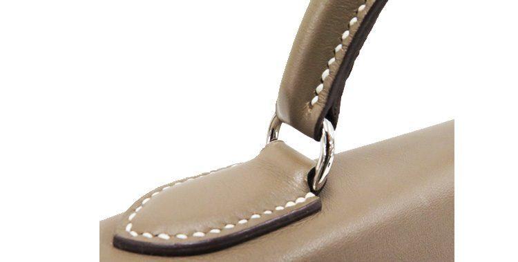 エルメスのバッグのハンドル付け根の金具