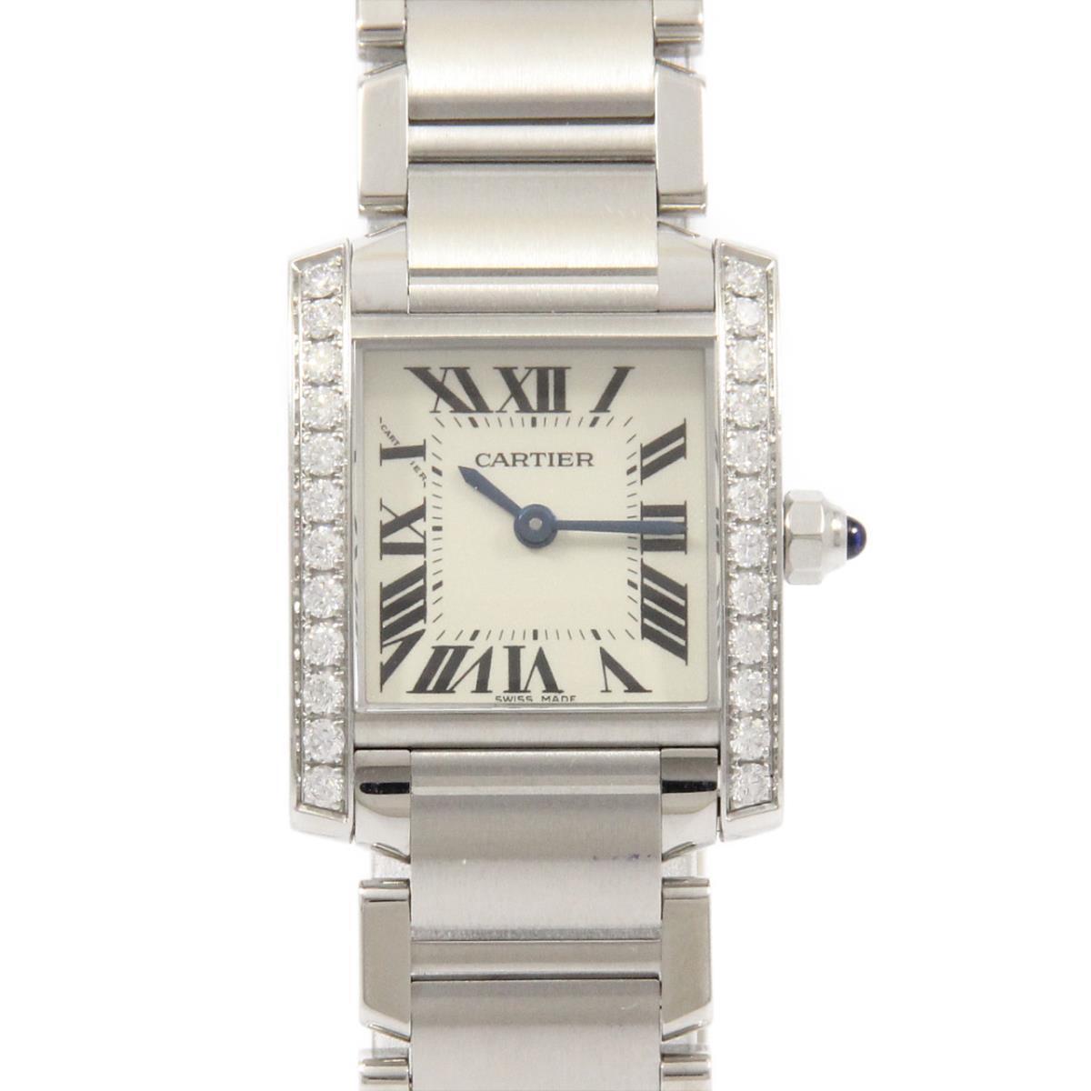 カルティエのシルバーの腕時計