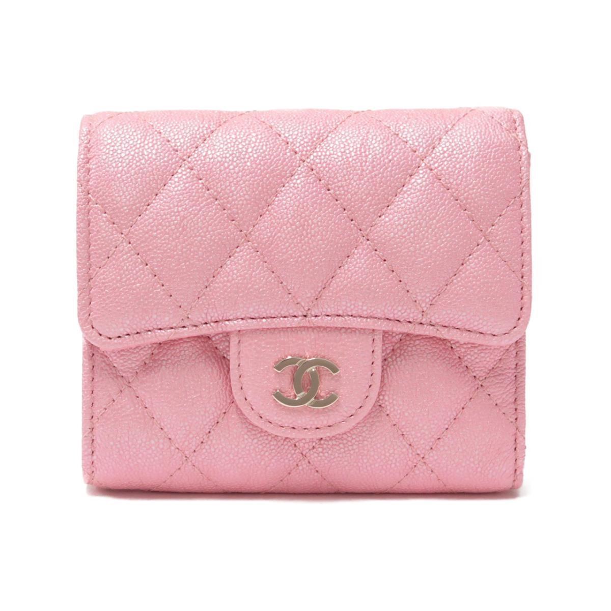 ピンクのシャネルのミニ財布