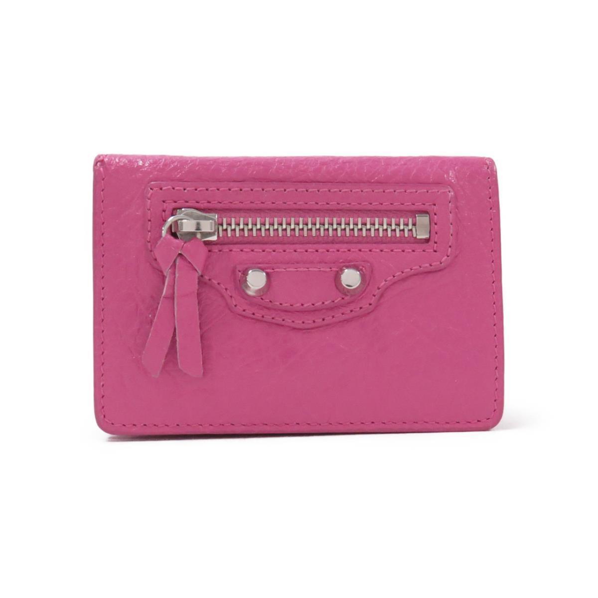 ピンクのバレンシアガのミニ財布