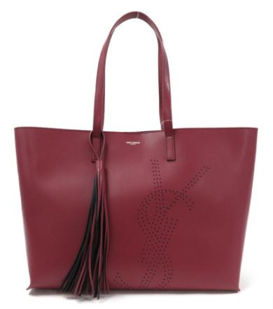 サンローランの赤いトートバッグ
