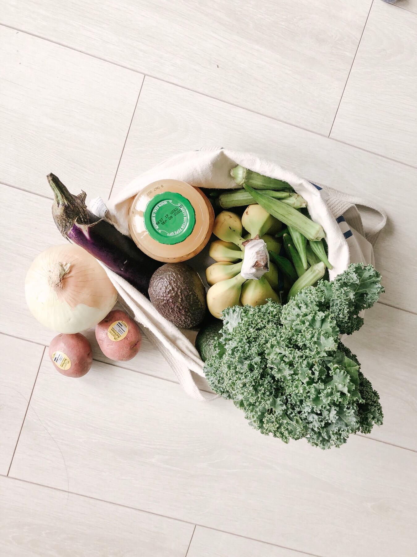 エコバッグに入った野菜