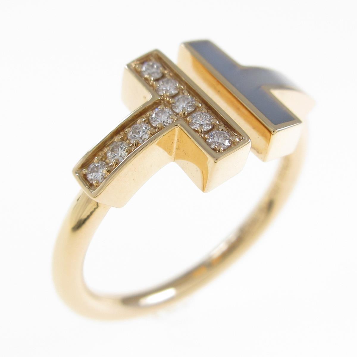 ダイヤ付きのゴールドのティファニーのリング