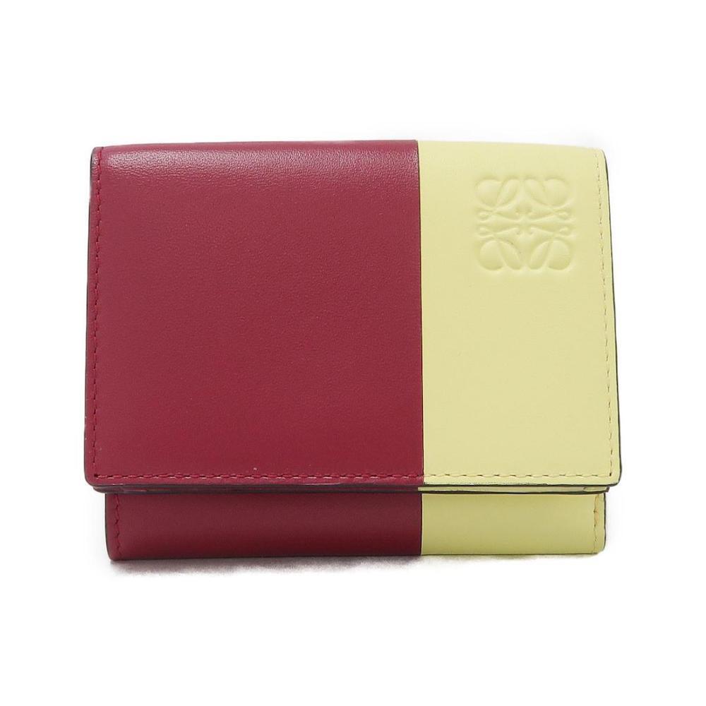 赤と黄色のロエベの三つ折り財布