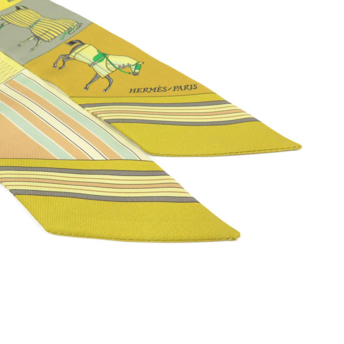 黄色の馬模様のエルメスツイリー
