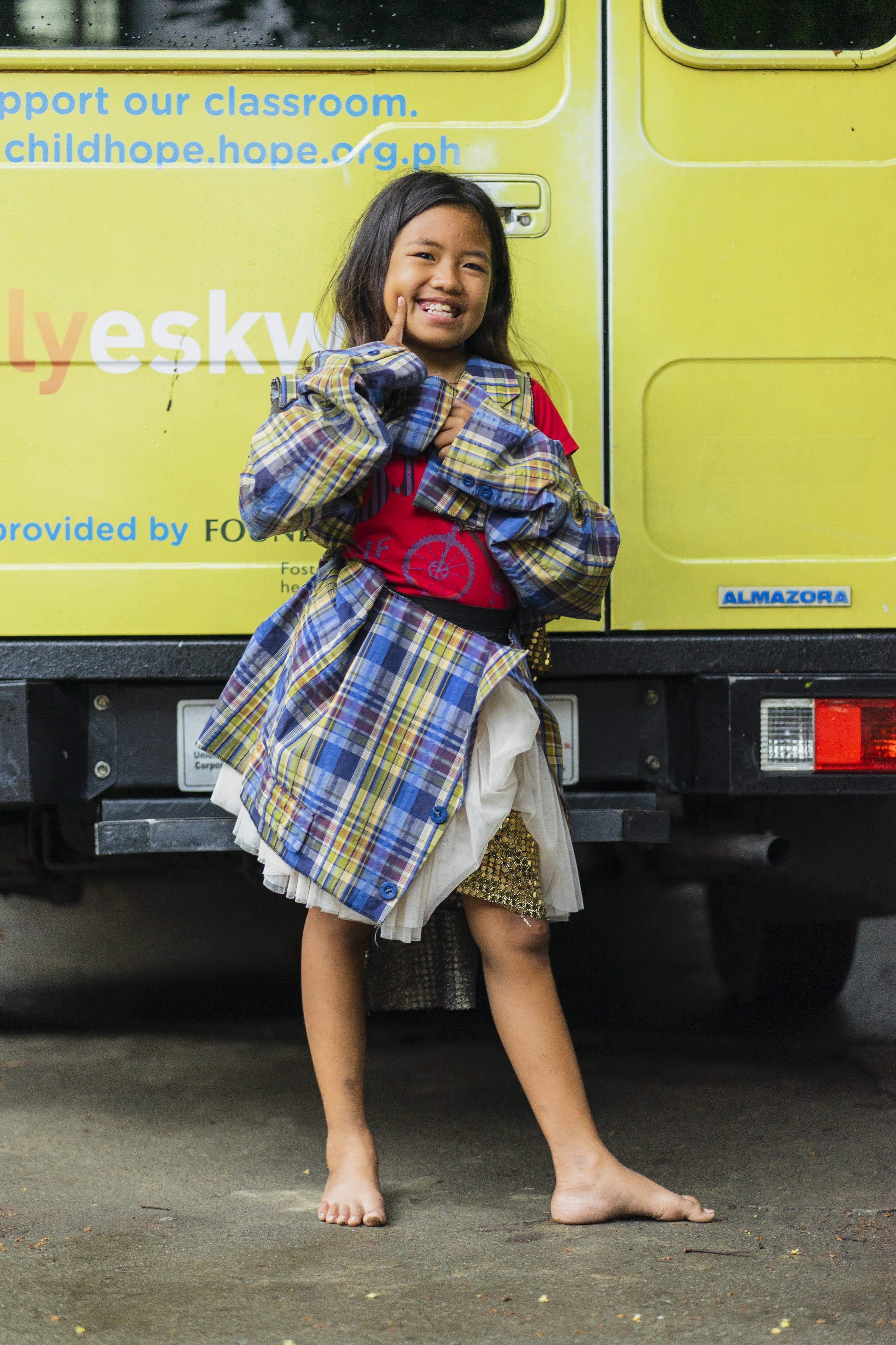フィリピンのパヤタスでDEAR MEが開催したファッションショーに出演した女の子