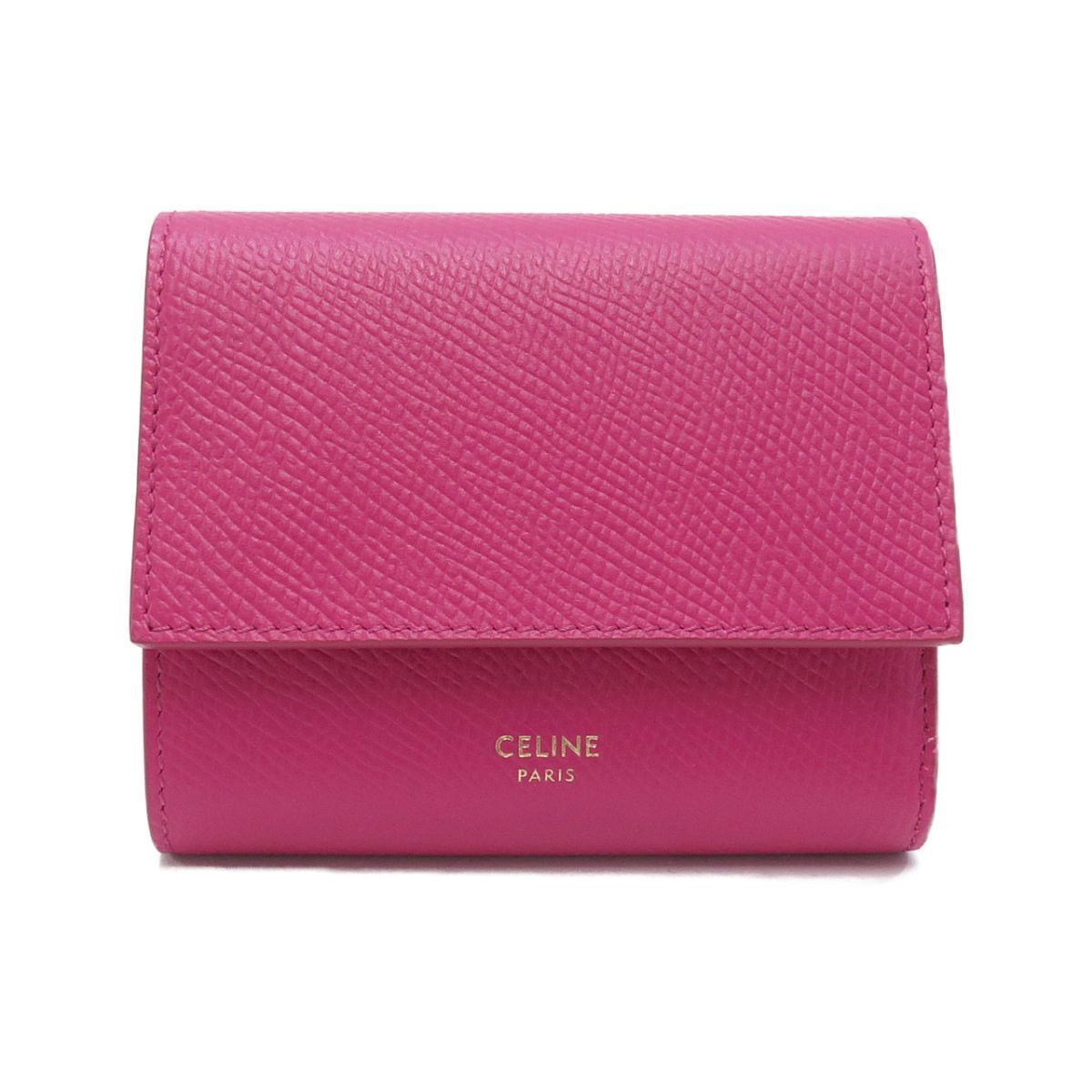 ピンク色のミニ財布