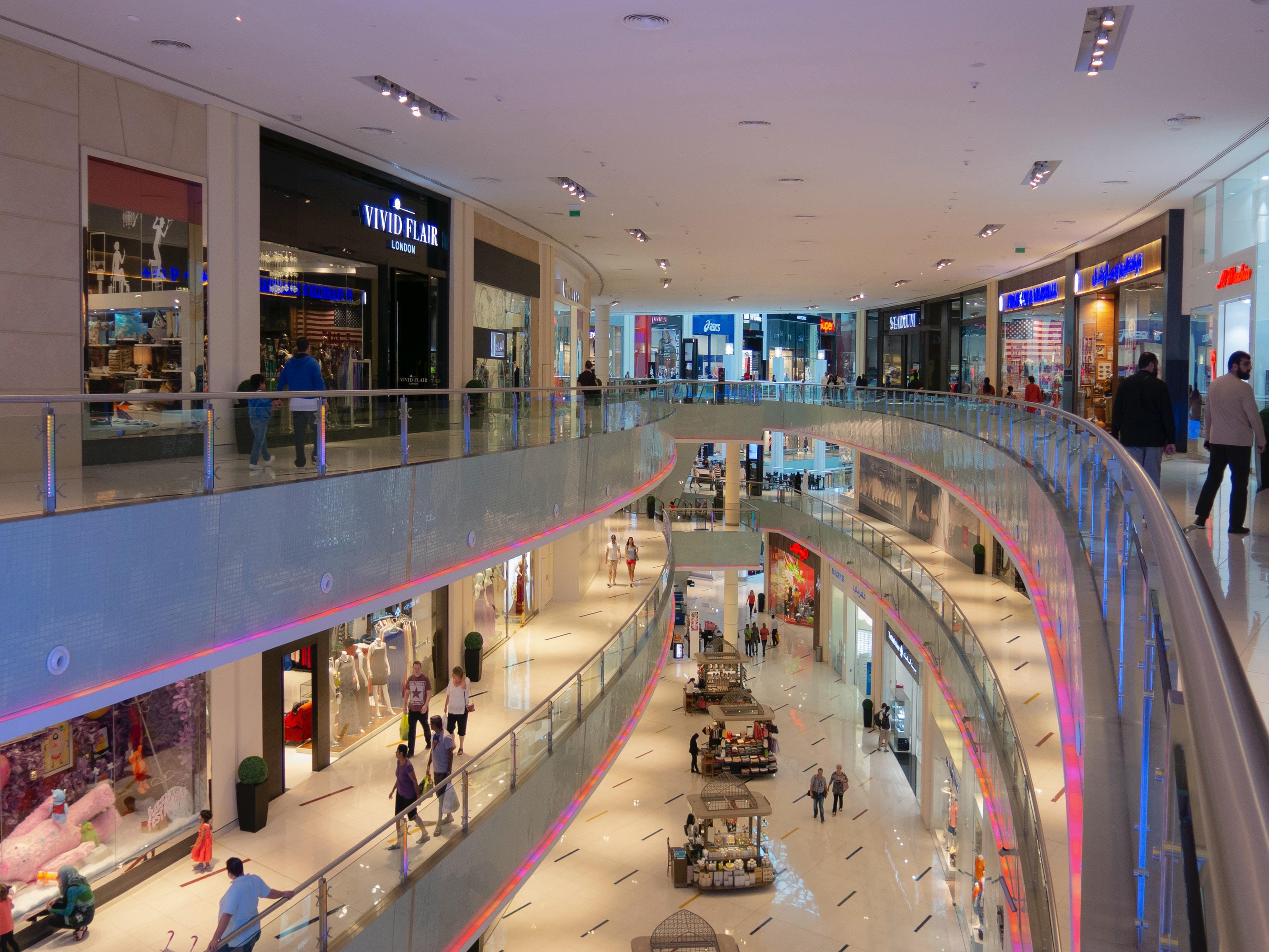 ショッピングモールの風景