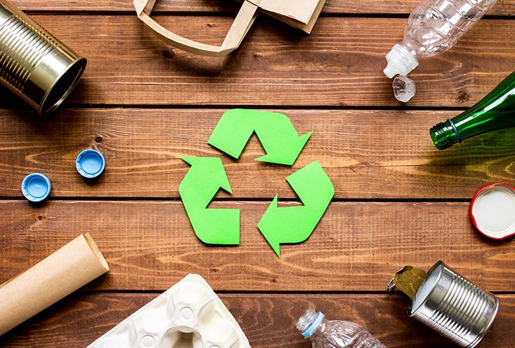 リサイクルマークとリサイクル素材