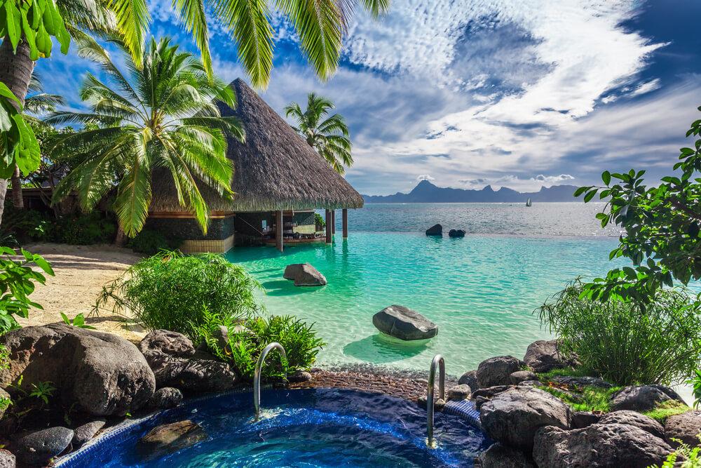 熱帯のリゾート地
