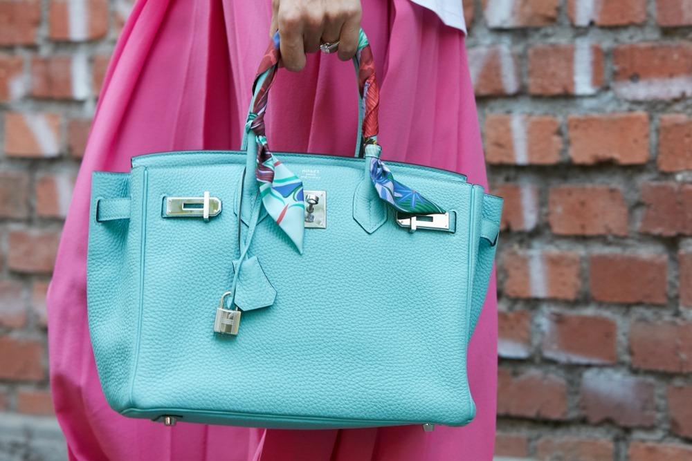 エルメスのバッグを持っている女性の姿
