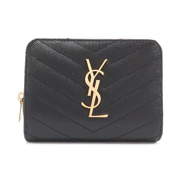 サンローランの黒のミニ財布