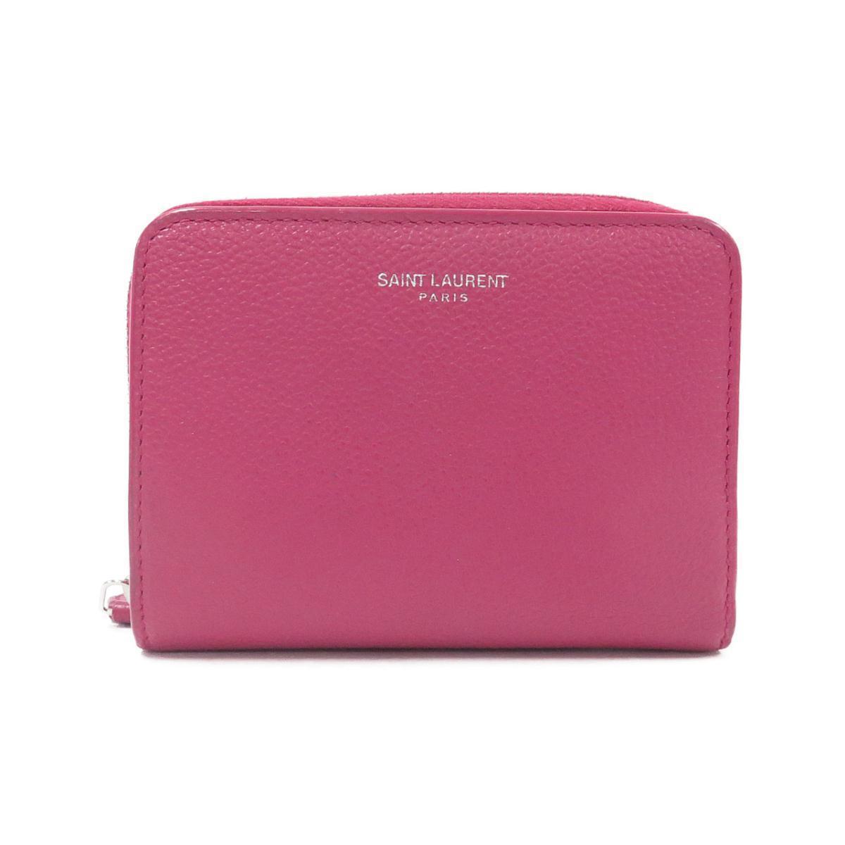 サンローランのピンクのミニ財布