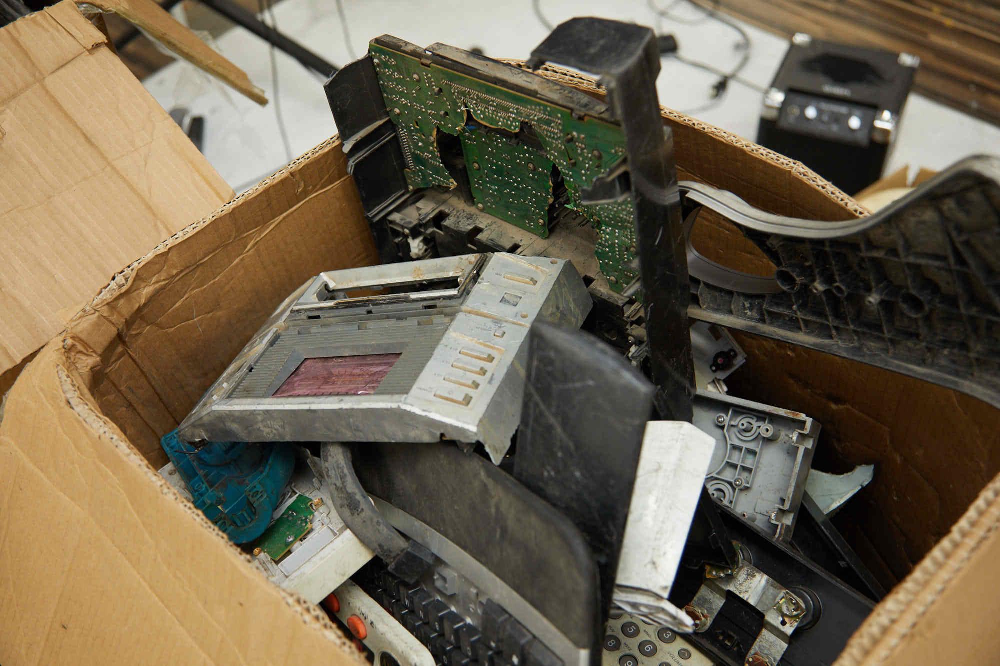 ガーナから送られてきた電子廃棄物