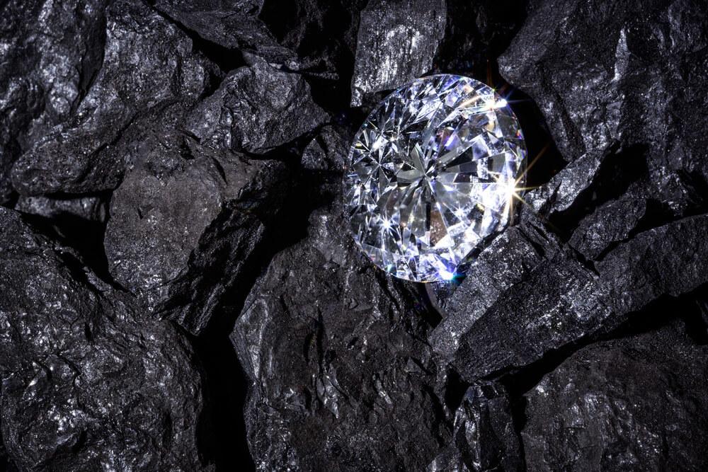 石炭の中で輝くダイヤモンド