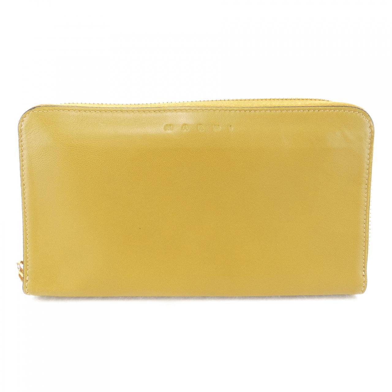 イエローの長財布