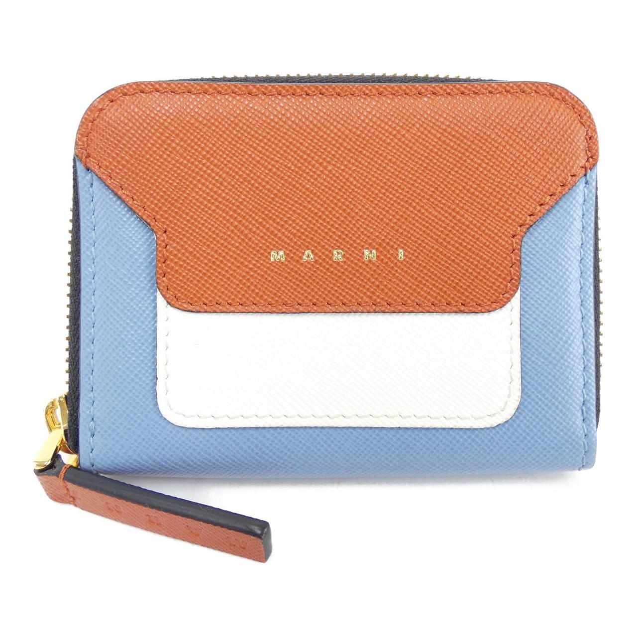 ブルー×オレンジ×ホワイトのコインケース