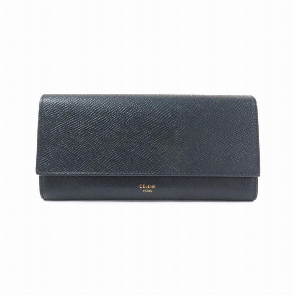 セリーヌの黒の長財布