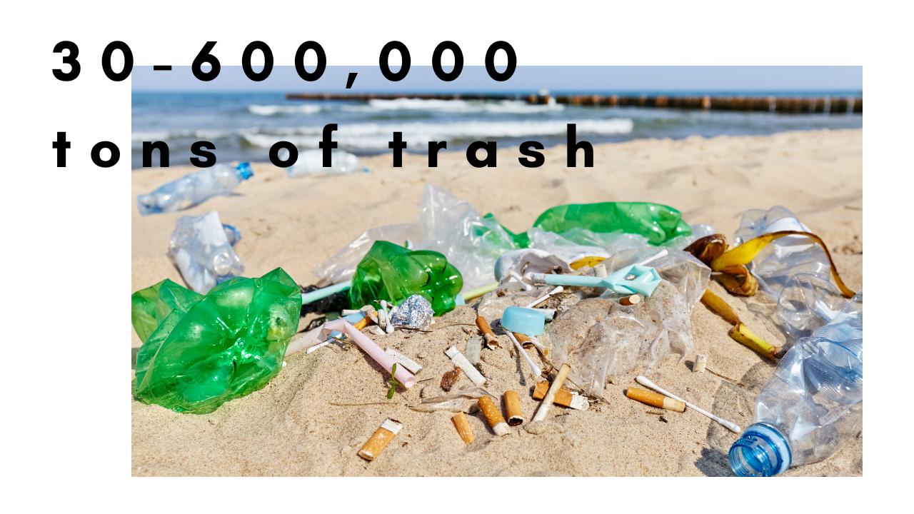 海に捨てられているゴミ