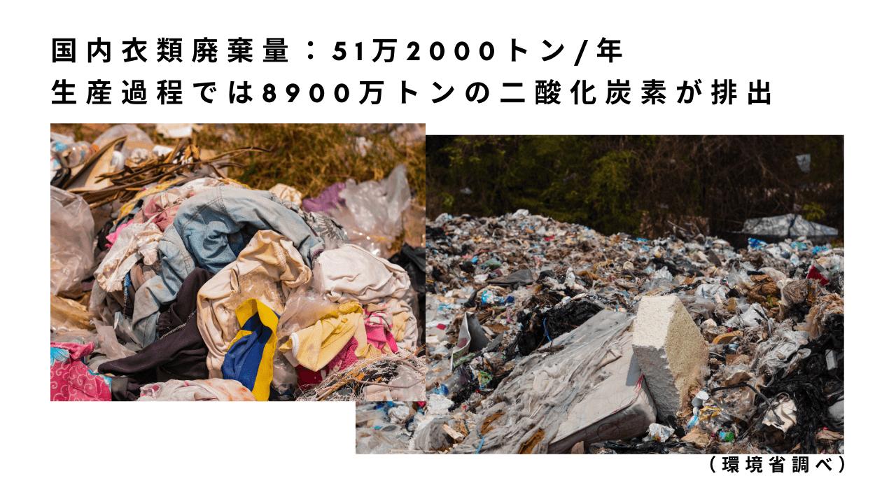 衣類が大量に破棄されている様子