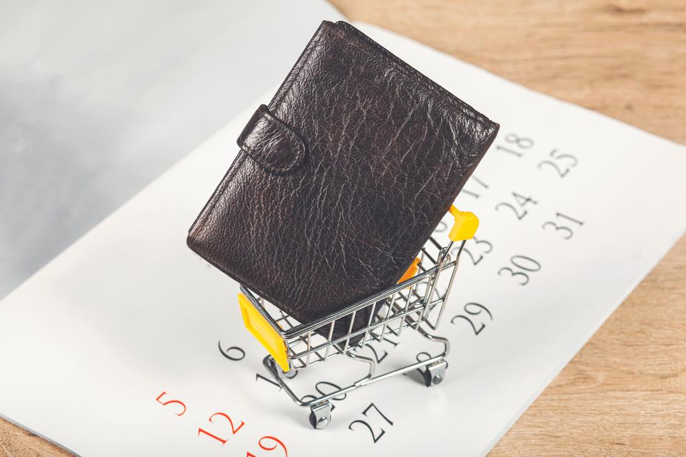 カートに入った財布