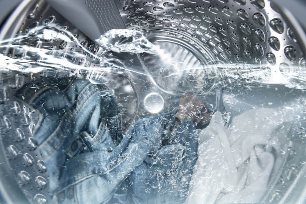 洗濯機のドラムの内部