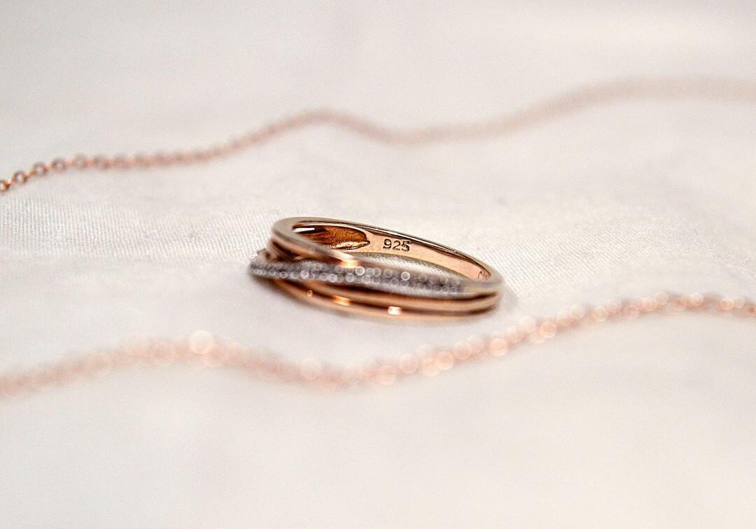 シルバー925のリングとネックレス